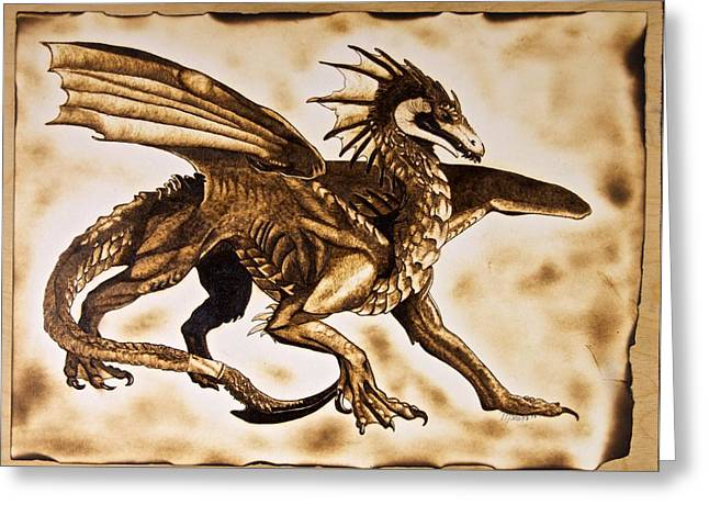 Dungeons Greeting Cards - Percival the Fierce Greeting Card by Marsha Wilson