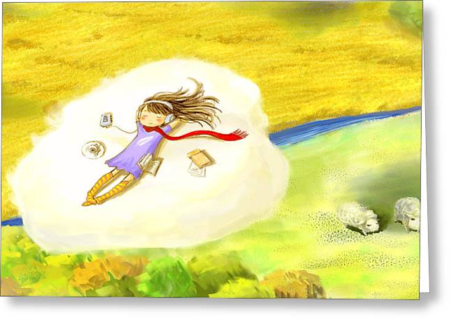 Afternoon Drawings Greeting Cards - Perfect Afternoon Greeting Card by Clover Qu