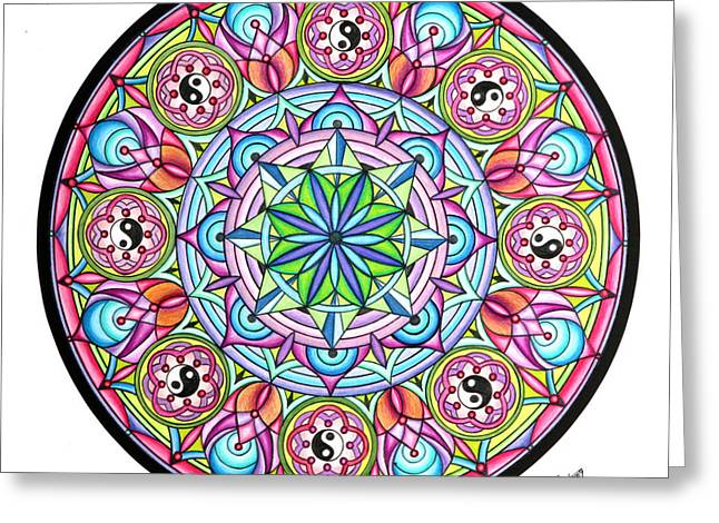 Geometrical Pastels Greeting Cards - Perfect Balance Greeting Card by Marcia Lupo