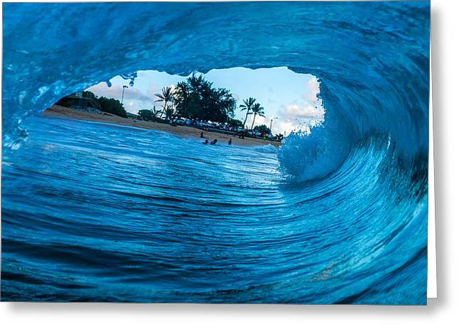 Surfing Art Greeting Cards - Perfect Greeting Card by Chris and Wally Rivera