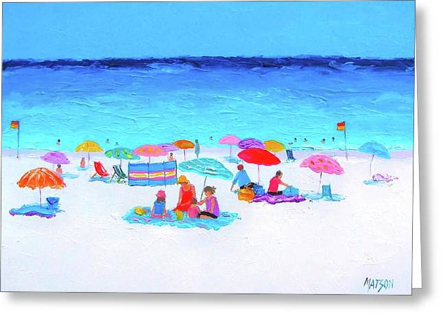 Beach Themed Paintings Greeting Cards - Perfect Day Greeting Card by Jan Matson