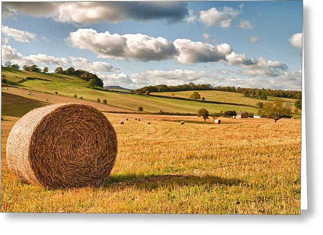 Straw Greeting Cards - Perfect Harvest Landscape Greeting Card by Amanda And Christopher Elwell