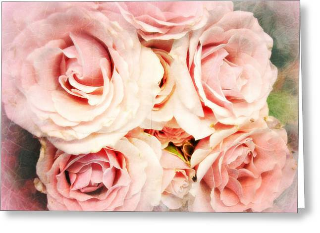 Bouquet Of Roses Greeting Cards - Perfect In Pink Greeting Card by Kathy Bucari