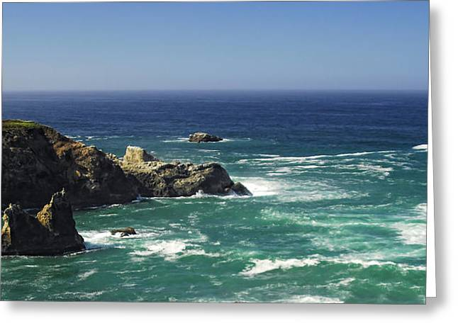 California Ocean Photography Greeting Cards - Perfect Mix of Blue and Green Greeting Card by Donna Blackhall