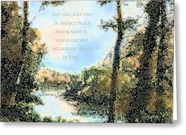 Perfect Peace Greeting Card by Hazel Holland
