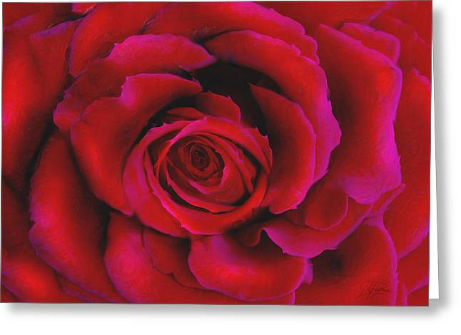 Rose Mixed Media Greeting Cards - Perfect Rose Greeting Card by Joel Payne