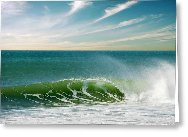 Ocean Shore Greeting Cards - Perfect Wave Greeting Card by Carlos Caetano