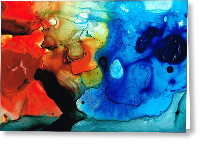 Abstract Spiritual Art Greeting Cards - Perfect Whole and Complete Greeting Card by Sharon Cummings