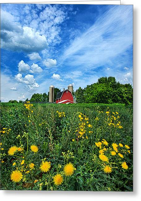 Red Barn Greeting Cards - Perfectly Summer Greeting Card by Phil Koch