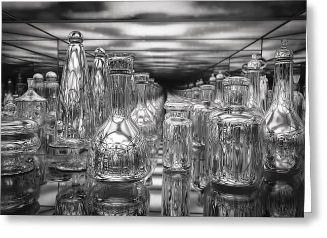 Bottle Of Perfume Greeting Cards - Perfume Bottles Boston Museum y1 Greeting Card by Carlos Diaz