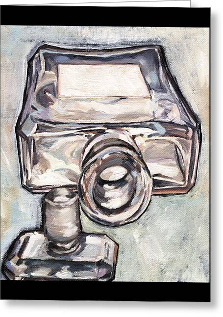 Bottle Of Perfume Greeting Cards - Perfume Perspective Greeting Card by Cecely Bloom
