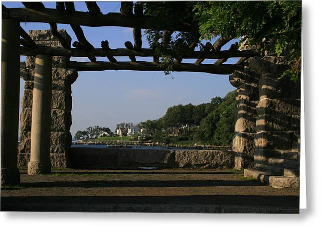 Pergola Greeting Card by Christopher Kirby