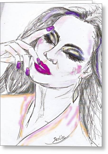 Enhanced Pastels Greeting Cards - Perhaps Greeting Card by Desline Vitto