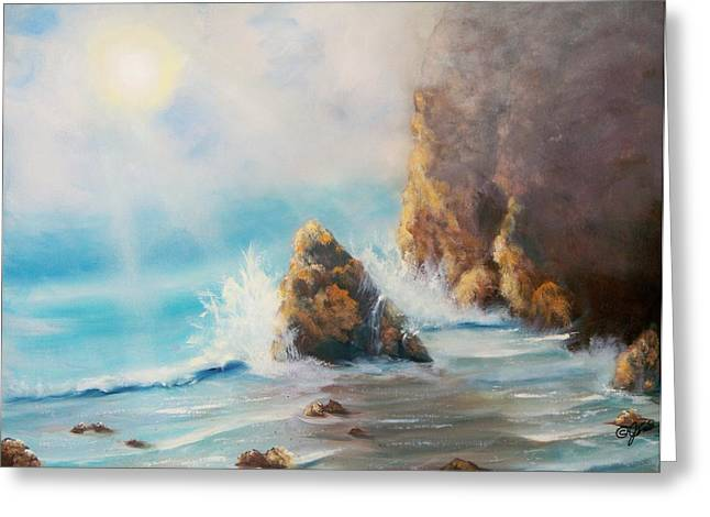 Beaches Greeting Cards - Perilous Shore Greeting Card by Joni McPherson