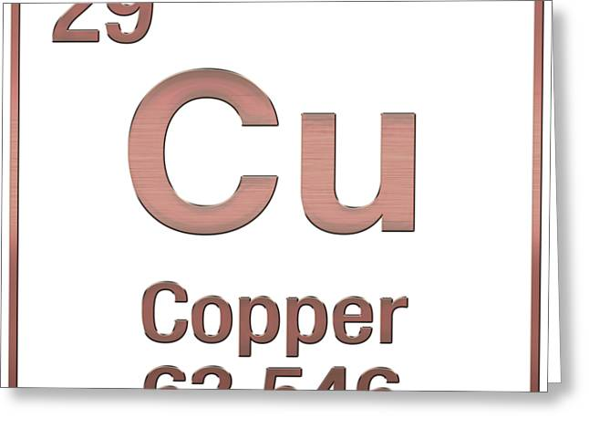 Periodic Table Of Elements - Copper - Cu - Copper On Copper Greeting ...