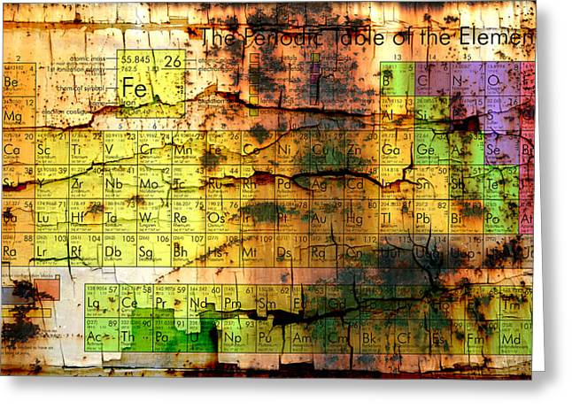 Element Of Light Greeting Cards - Periodic Table Of Elements Greeting Card by Marco Oliveira