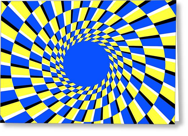 Tricks Greeting Cards - Peripheral Drift Illusion Greeting Card by