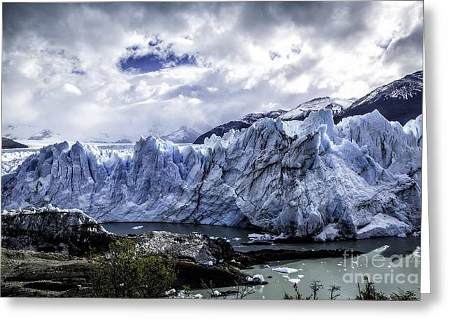 Santa Cruz Greeting Cards - Perito Moreno Glacier 2 Greeting Card by Timothy Hacker