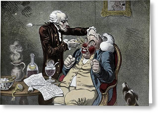 Die Karikatur Und Satire In Der Medizin Greeting Cards - Perkins Tractors, Satirical Artwork Greeting Card by