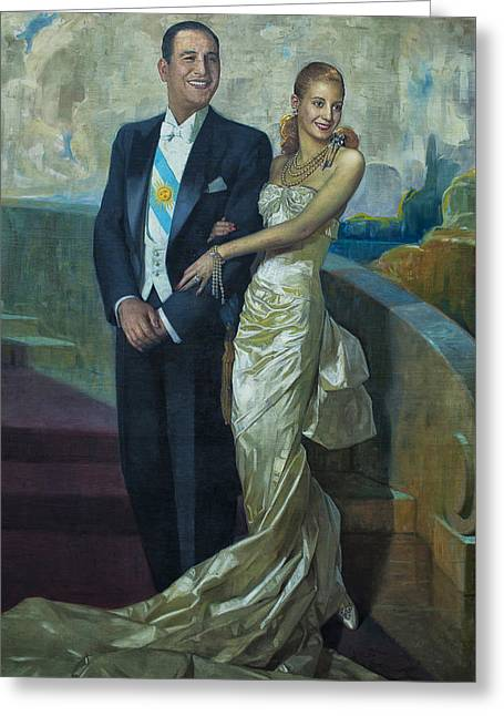 Landscape Posters Greeting Cards - Peron Y Evita Greeting Card by Hans Wolfgang Muller