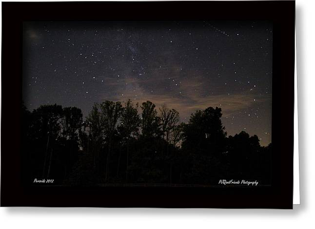 Perseid Meteor in Milky Way Greeting Card by PJQandFriends Photography