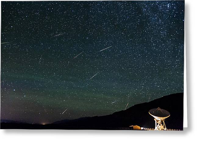 Perseid Meteor Shower Greeting Card by Cat Connor