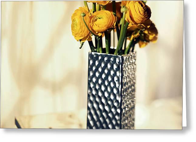 Persian buttercup Greeting Card by Tony Cordoza