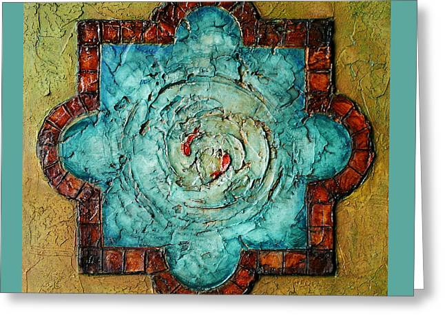 Desert Reliefs Greeting Cards - Iranian Pond Greeting Card by Mehdi Ashlaghi