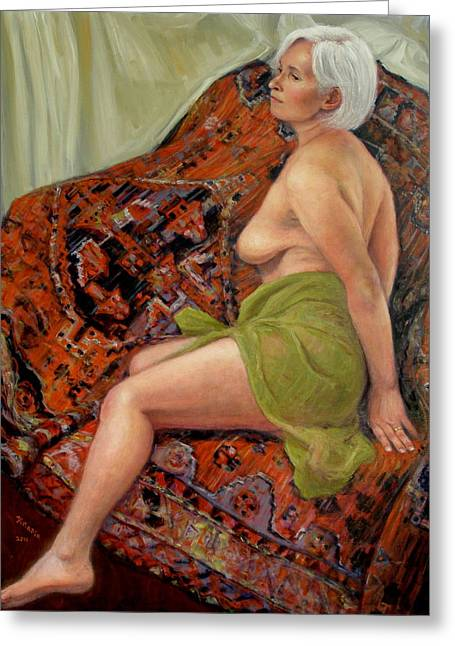 Nude Monroe Greeting Cards - Persian Rug 3 Greeting Card by Donelli  DiMaria