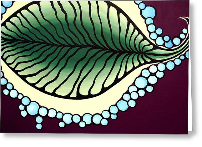 Bubbly Paintings Greeting Cards - Persip Greeting Card by Angela Hansen