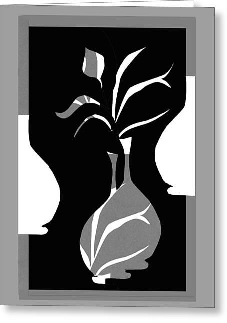 Greyscale Drawings Greeting Cards - Personalities Greeting Card by Iris ten  Holder