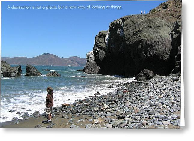 Motivational Poster Photographs Greeting Cards - Perspective Greeting Card by Jen White