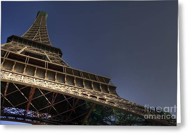 Eiffel Tower Greeting Cards - Perspective Greeting Card by Sophie De Roumanie