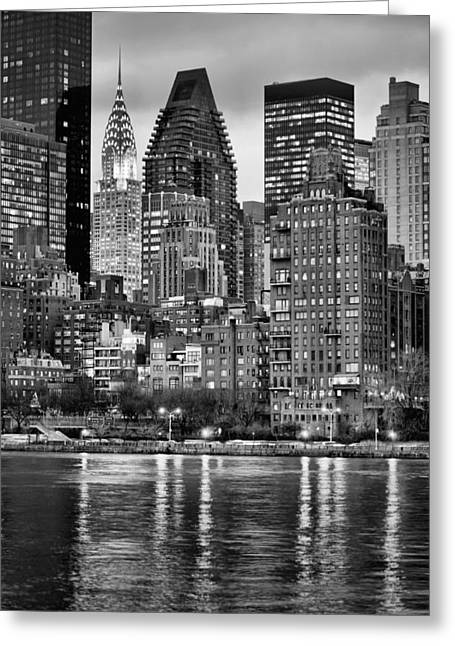 Midtown Greeting Cards - Perspectives V BW Greeting Card by JC Findley
