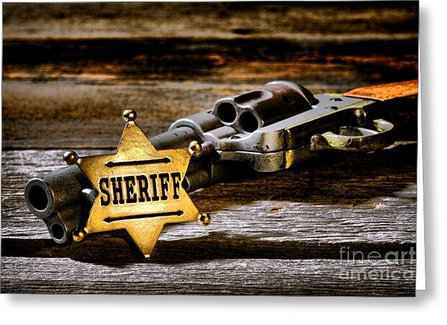 Sheriff Greeting Cards - Persuasion Greeting Card by Olivier Le Queinec