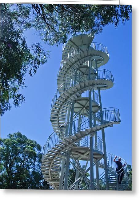 Recently Sold -  - Helix Greeting Cards - Perth Kings Park Double Helix DNA Tower  Greeting Card by Harry Strharsky