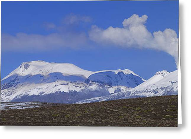 Snow Capped Greeting Cards - Peru Volcanoes Greeting Card by Christian Heeb