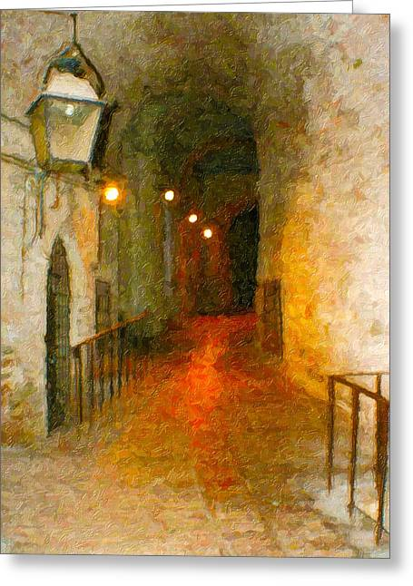 Perugia Grotto 1 Greeting Card by Rob Tullis