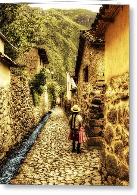 Peruvian Streets Greeting Card by Stuart Deacon