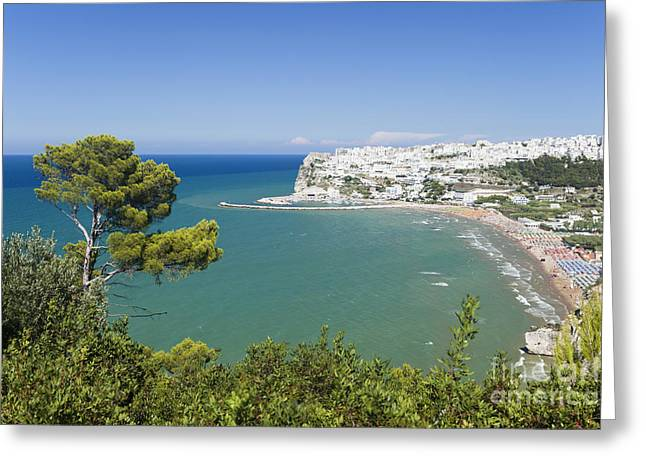 Sicily Greeting Cards - Peschici Italy Greeting Card by Wolfgang Steiner