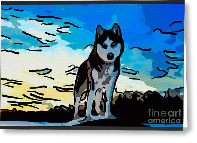 Retriever Prints Digital Art Greeting Cards - Pet Gone Wild Greeting Card by Omaste Witkowski