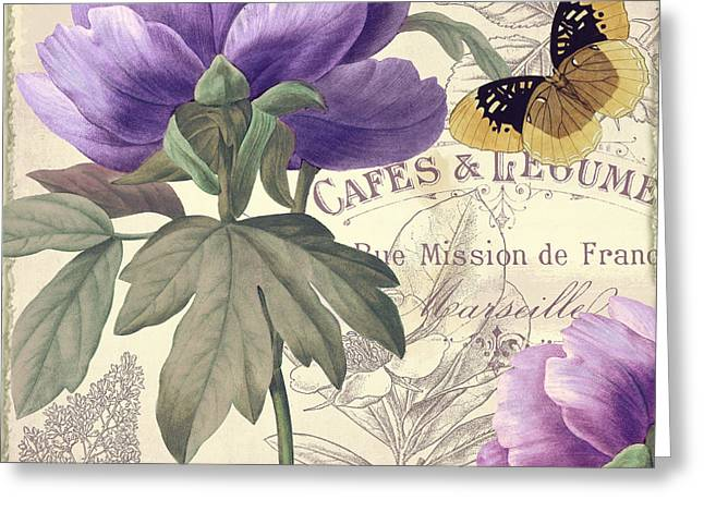Vintage Paris Greeting Cards - Petals of Paris IV Greeting Card by Mindy Sommers
