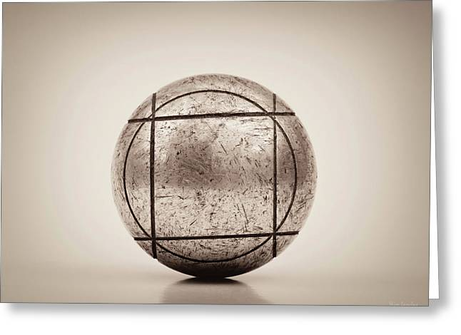 Petanque Ball Greeting Card by Wim Lanclus