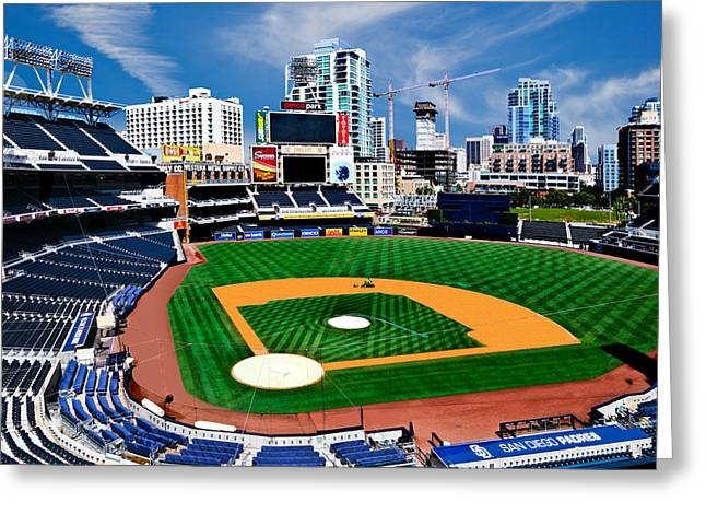 Petco Park Photographs Greeting Cards - Petco Park Baseball Field in San Diego Greeting Card by Irv Lefberg