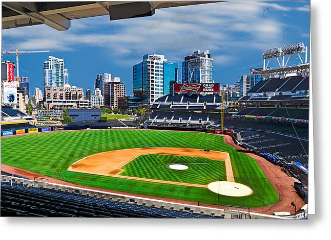 Petco Park Photographs Greeting Cards - Petco Park in San Diego Greeting Card by Irv Lefberg