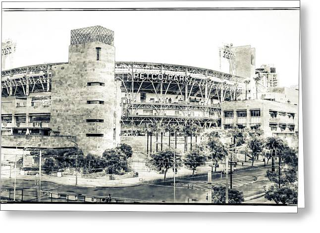 Petco Park Greeting Card by Nancy Forehand