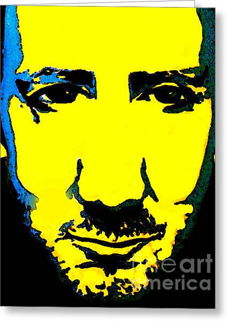 Fame Greeting Cards - Pete Townsend The Who Greeting Card by Margaret Juul