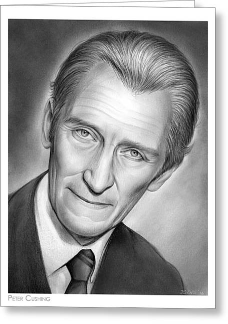 Peter Cushing Greeting Card by Greg Joens