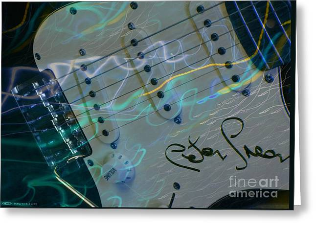 Autographed Guitars Greeting Cards - Peter Green Strat Greeting Card by MyChicC