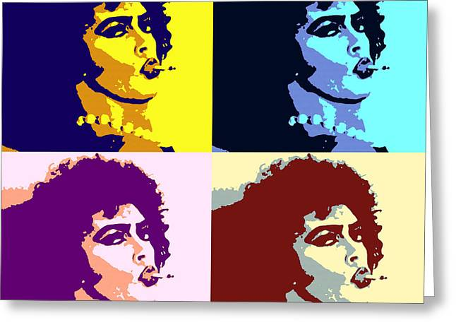 Peter Hinwood As Rocky Horror Pop Art Poster Greeting Card by Pd